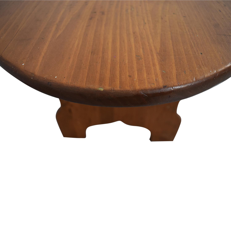 Wood Checkerboard Coffee Table nj