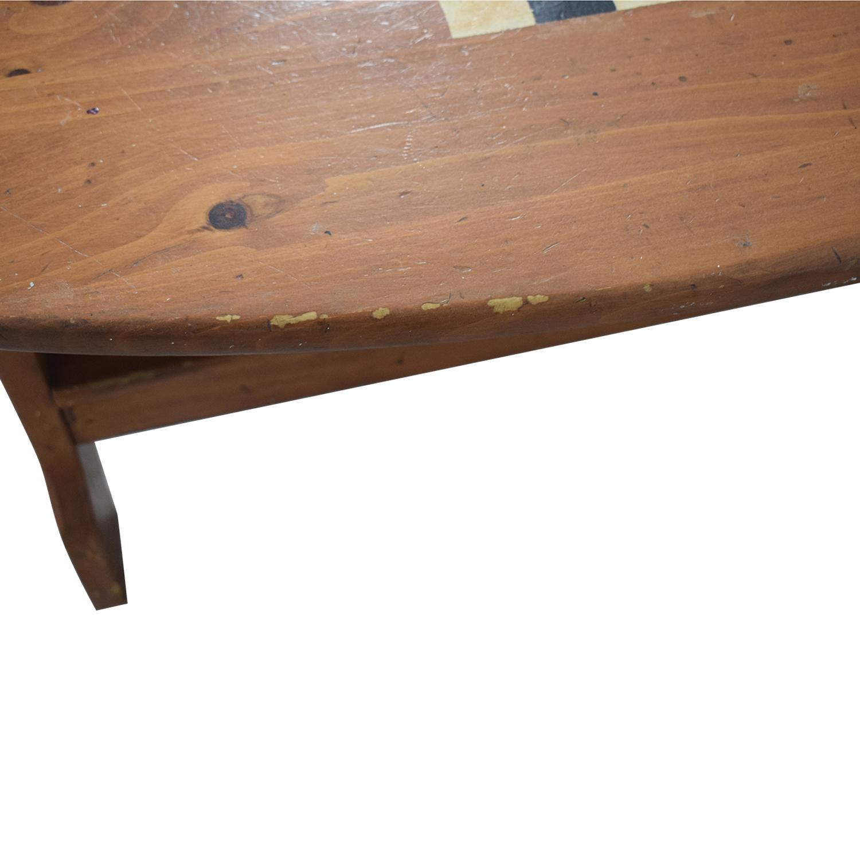buy  Wood Checkerboard Coffee Table online