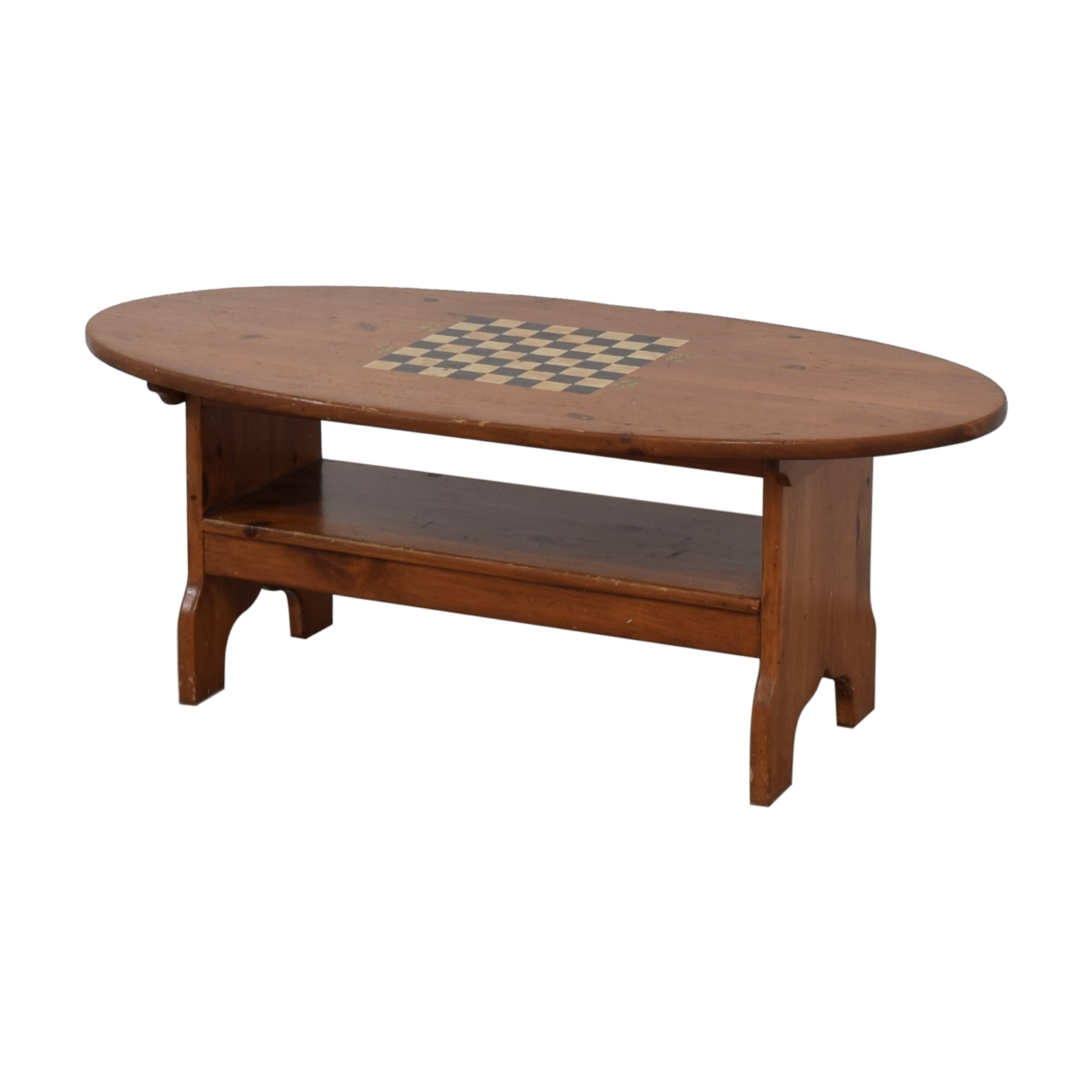 Wood Checkerboard Coffee Table on sale