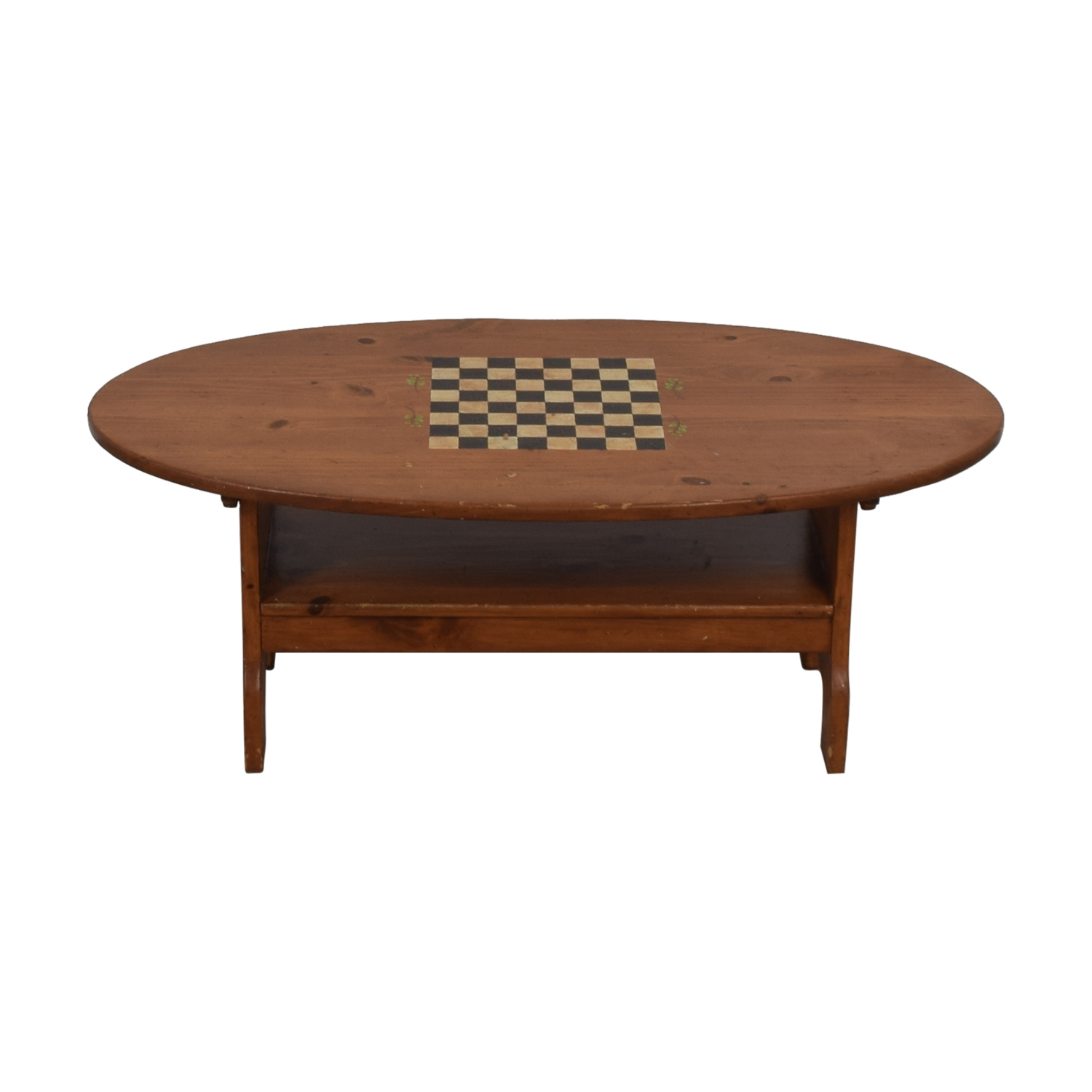 buy Wood Checkerboard Coffee Table  Tables