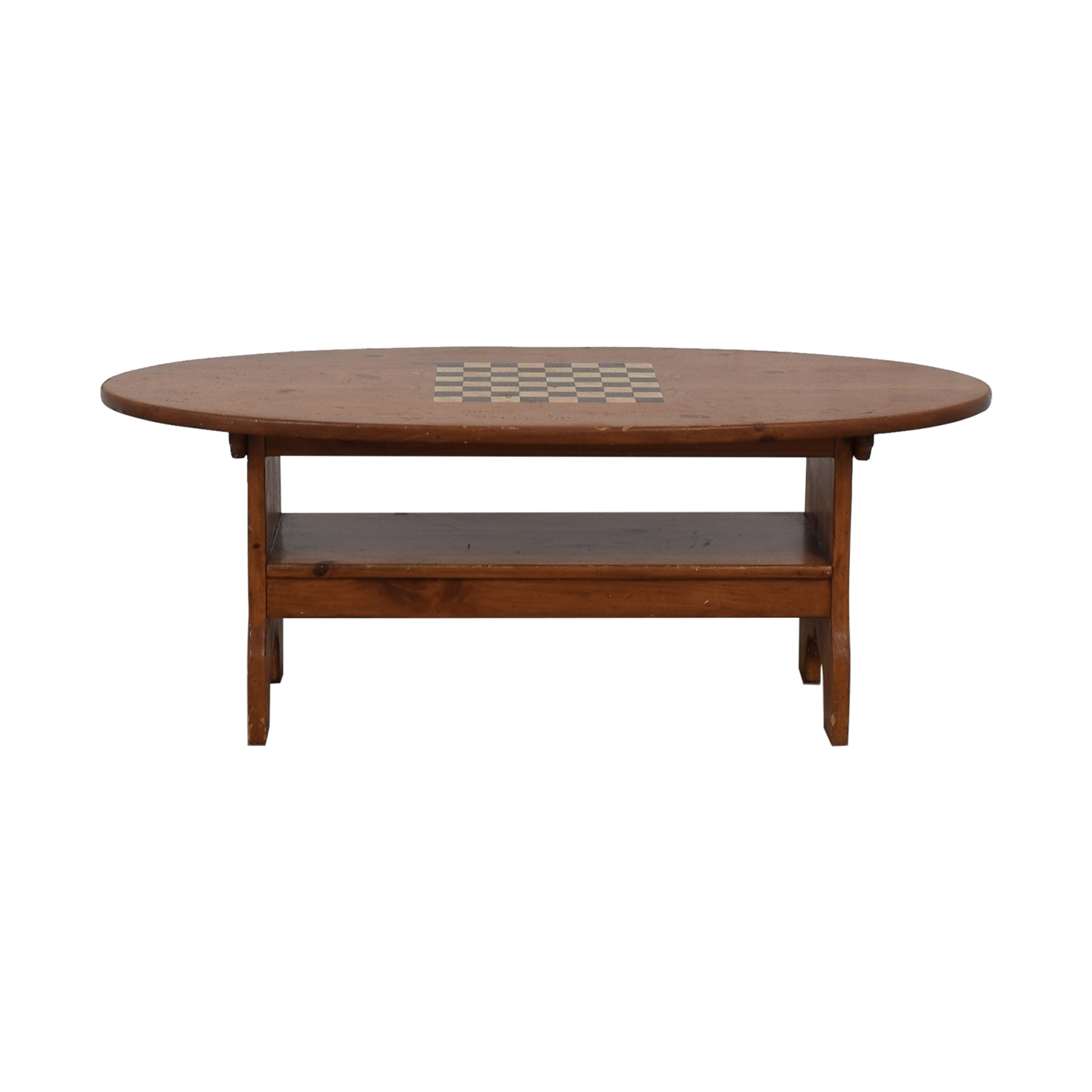 Wood Checkerboard Coffee Table for sale