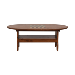 Wood Checkerboard Coffee Table dimensions