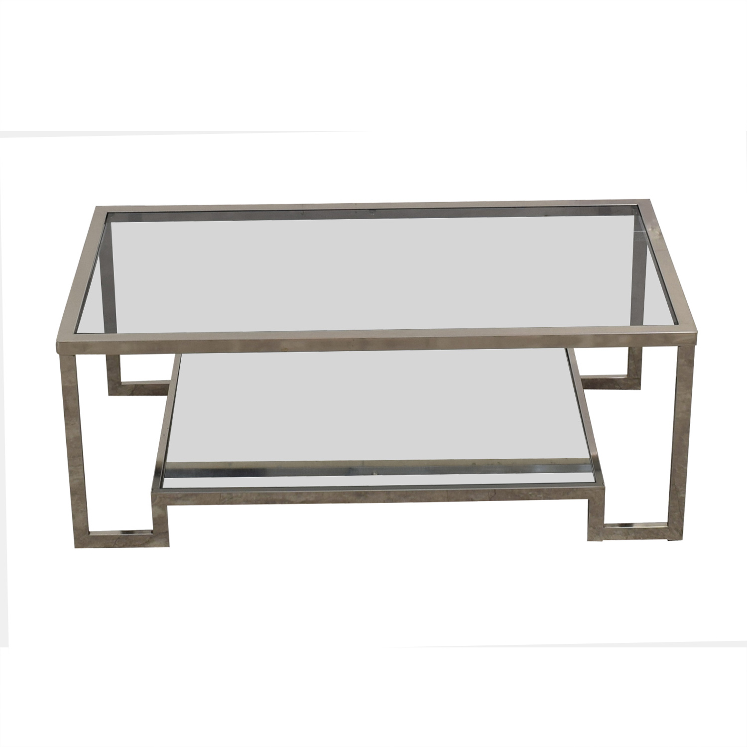 Overstock Overstock Glass Coffee Table used