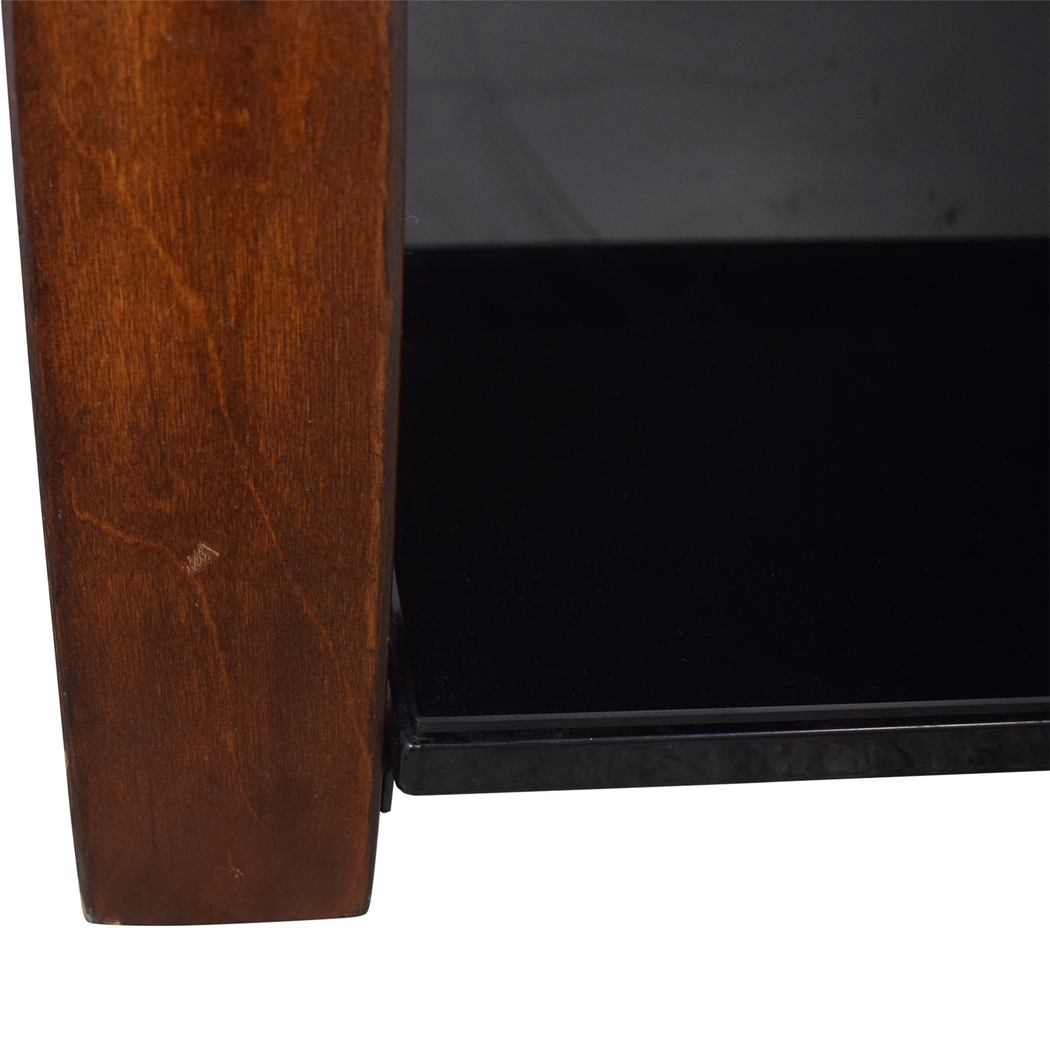 Whalen Furniture Whalen Furniture Black Glass and Wood Entertainment Center used