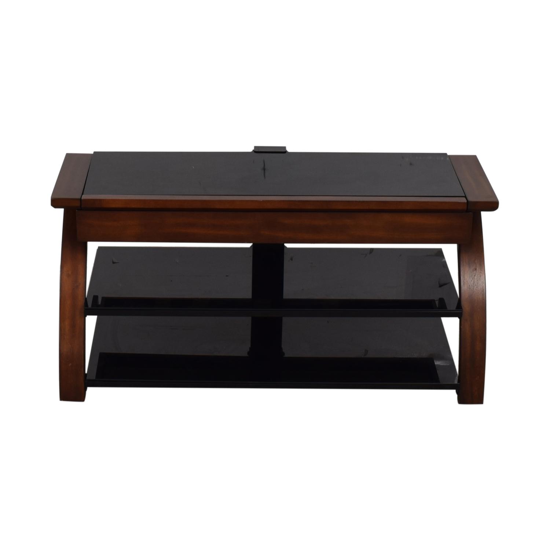 buy Whalen Furniture Black Glass and Wood Entertainment Center Whalen Furniture Storage
