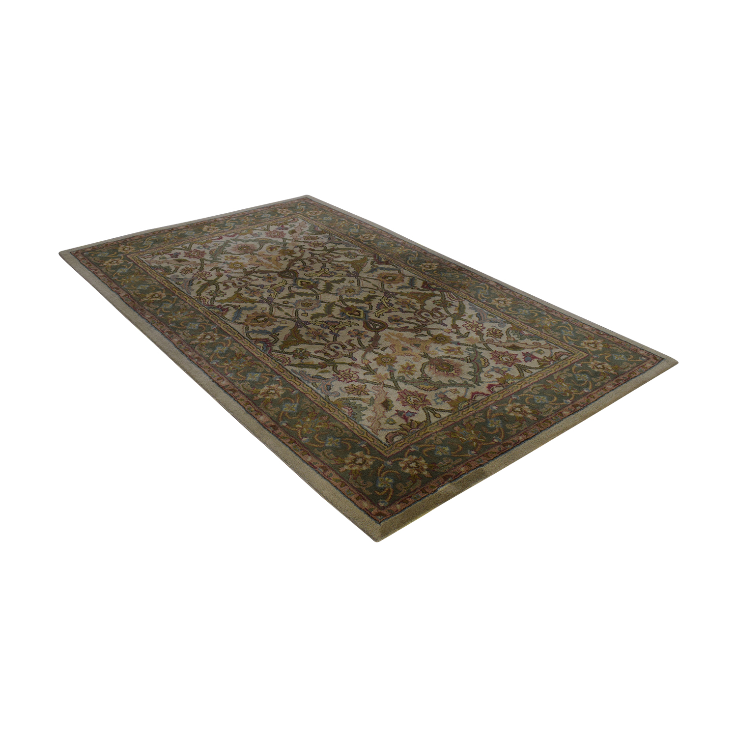 Olive and Beige Rug