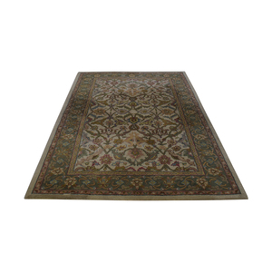 Olive and Beige Rug used