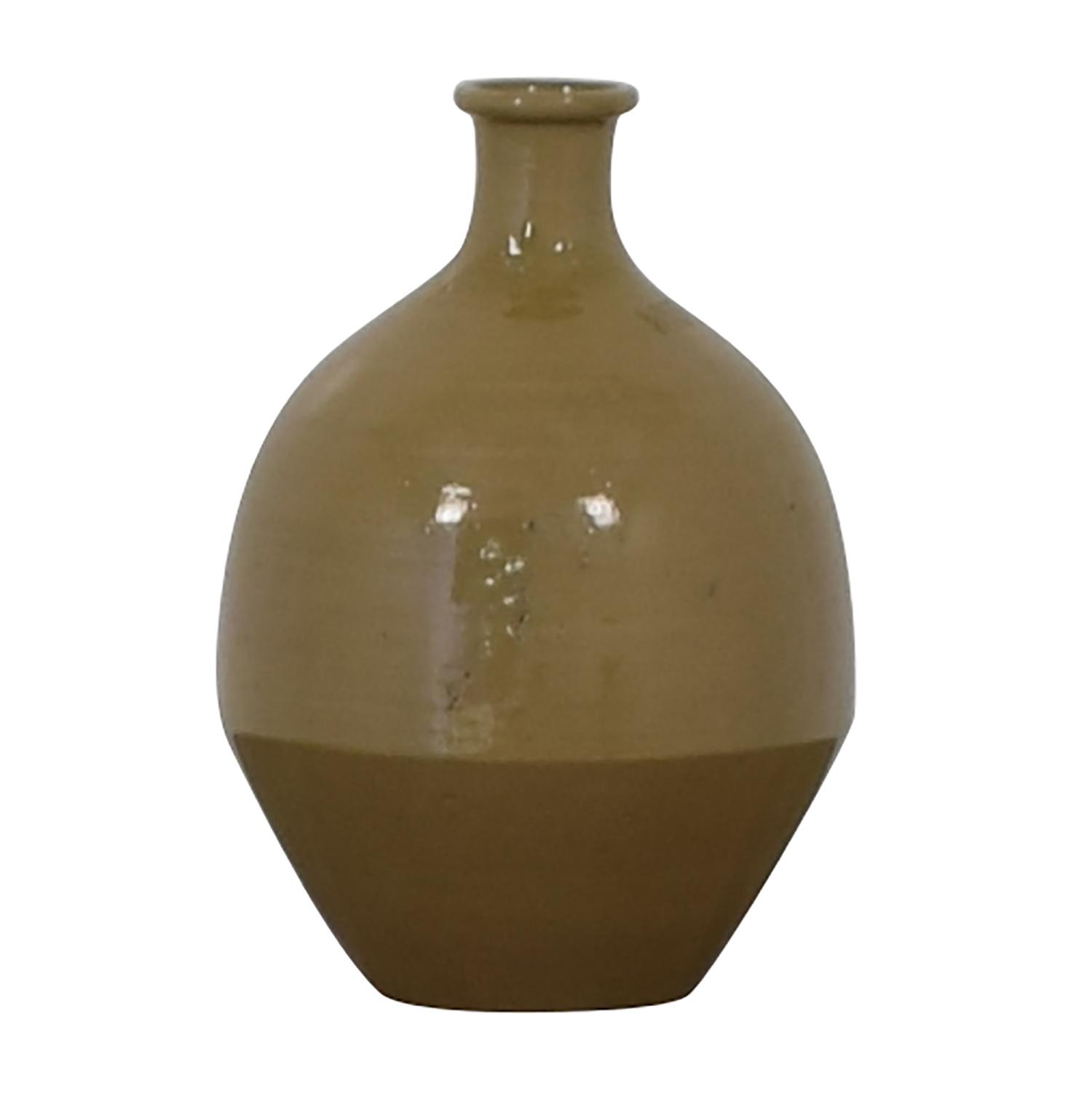 Pottery Barn Beige Ceramic Vase / Decorative Accents