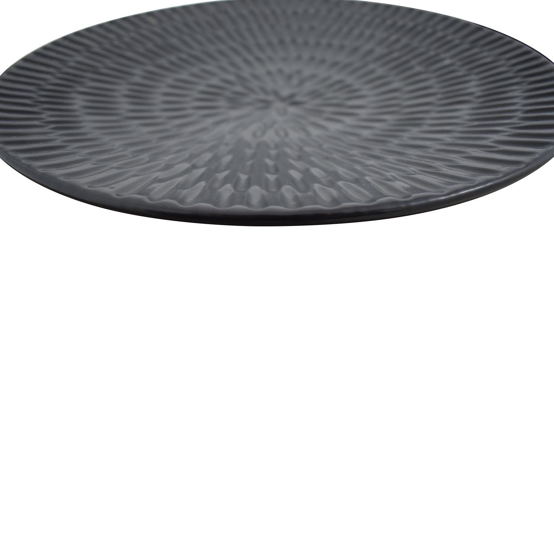 Pottery Barn Pottery Barn Black Decorative Plates nyc