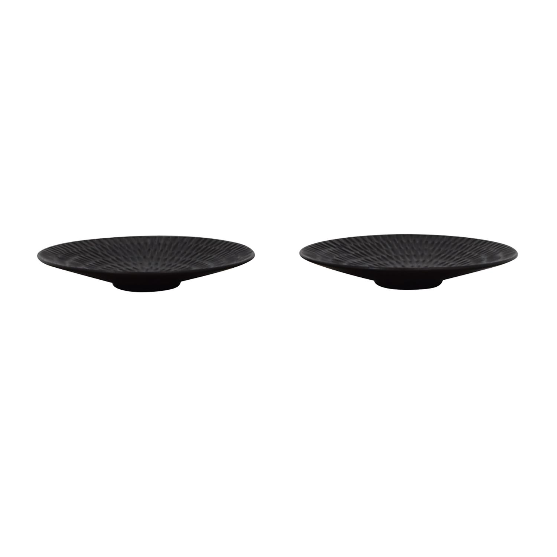 Pottery Barn Black Decorative Plates / Decor
