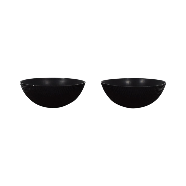 Pottery Barn Pottery Barn Black Decorative Bowls coupon