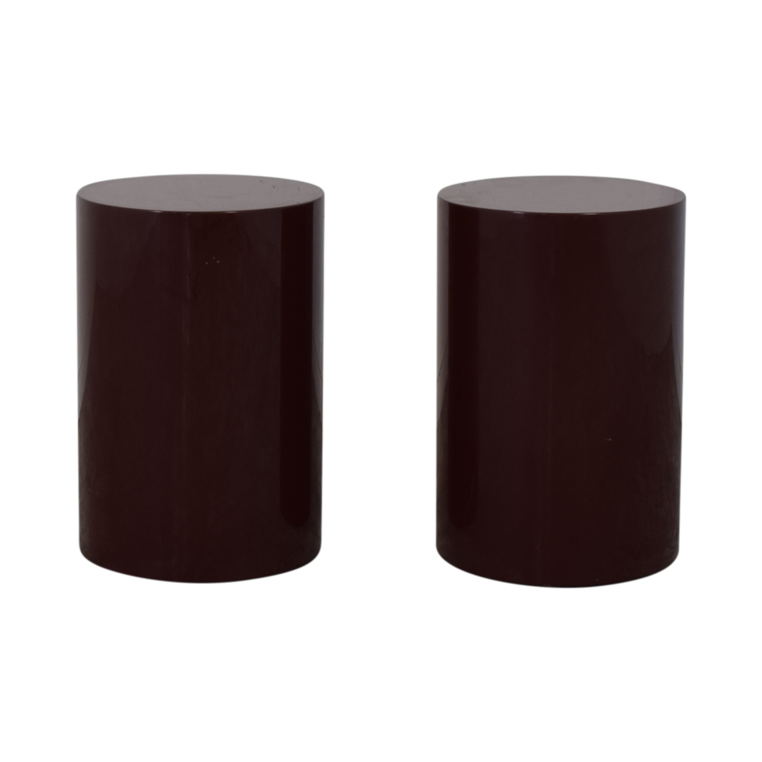 Intrex Round End Tables brown