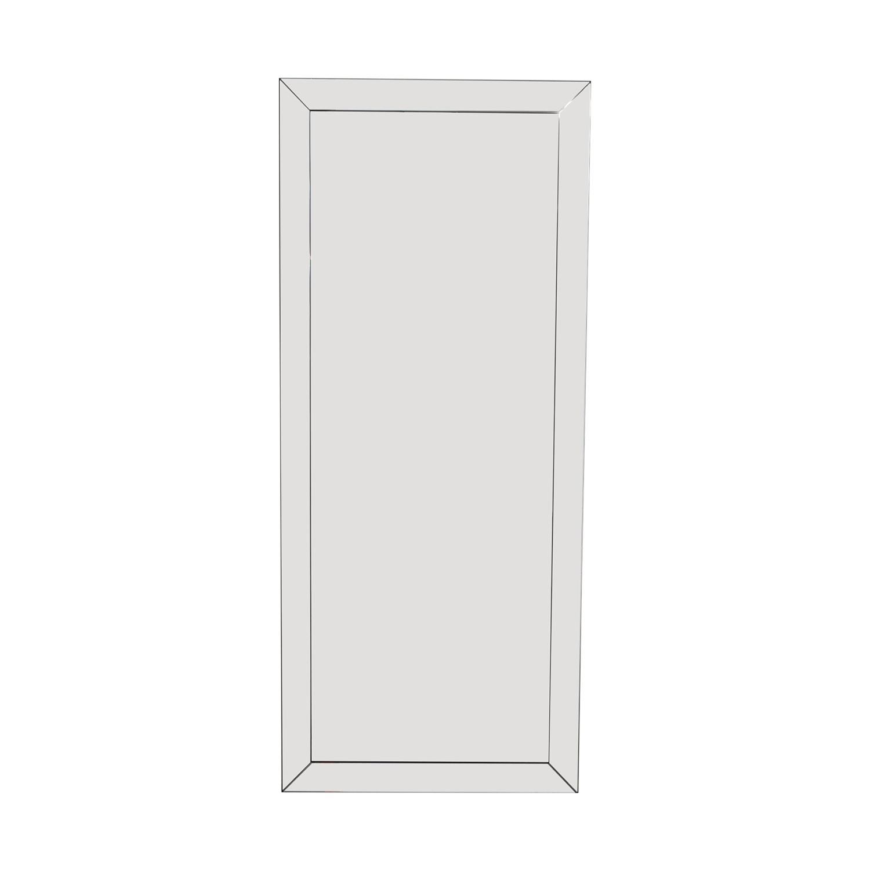 buy Coaster Fine Furniture Mirrored Framed Floor Mirror Coaster Fine Furniture Decor