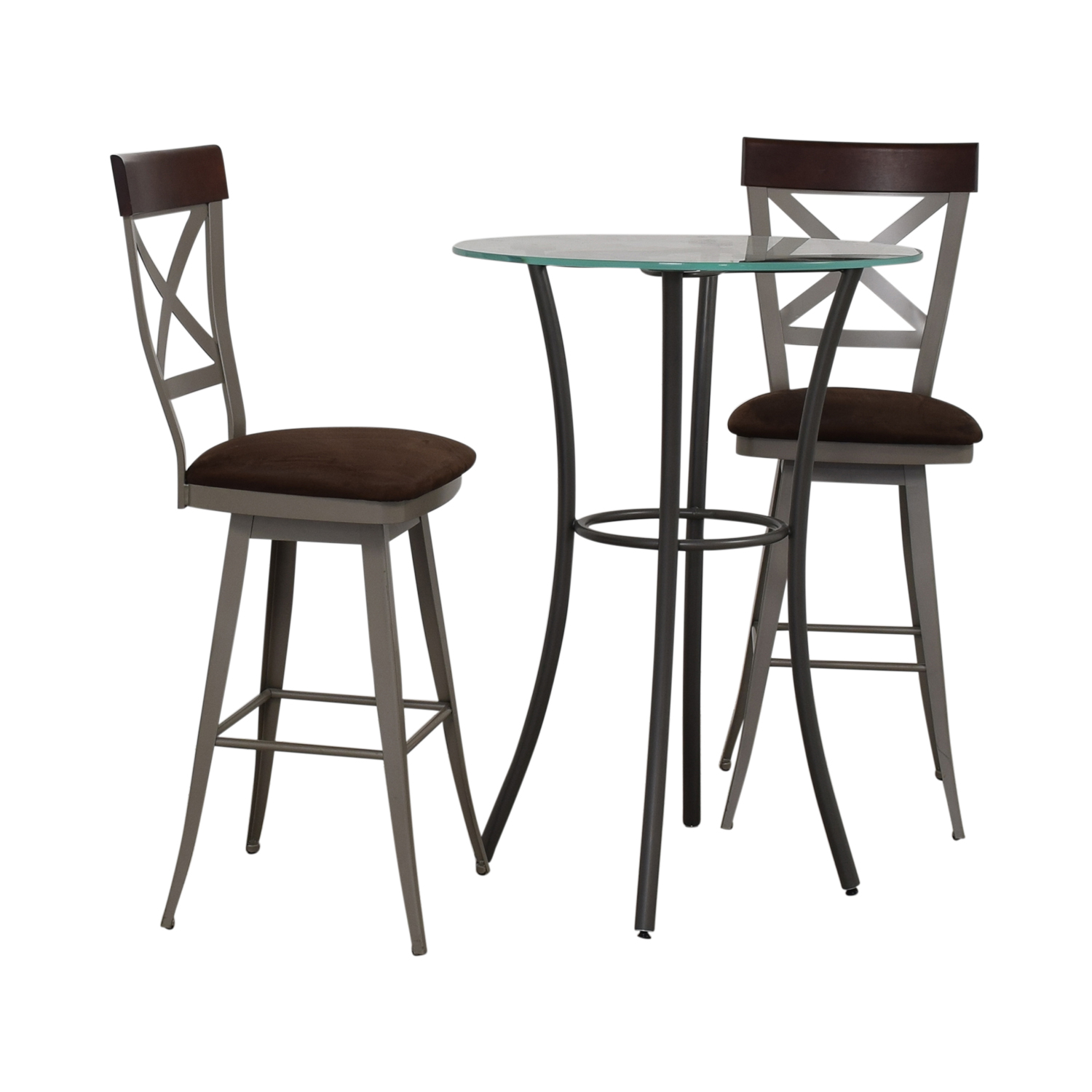 buy Amisco Amisco Glass Top Pub Table Set online