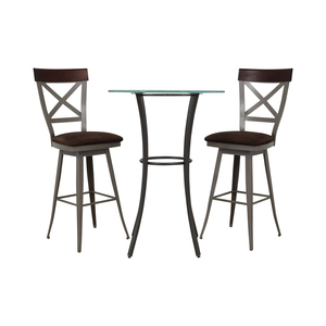 Amisco Amisco Glass Top Pub Table Set nyc