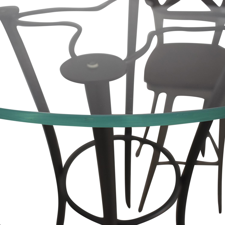Amisco Glass Top Pub Table Set sale