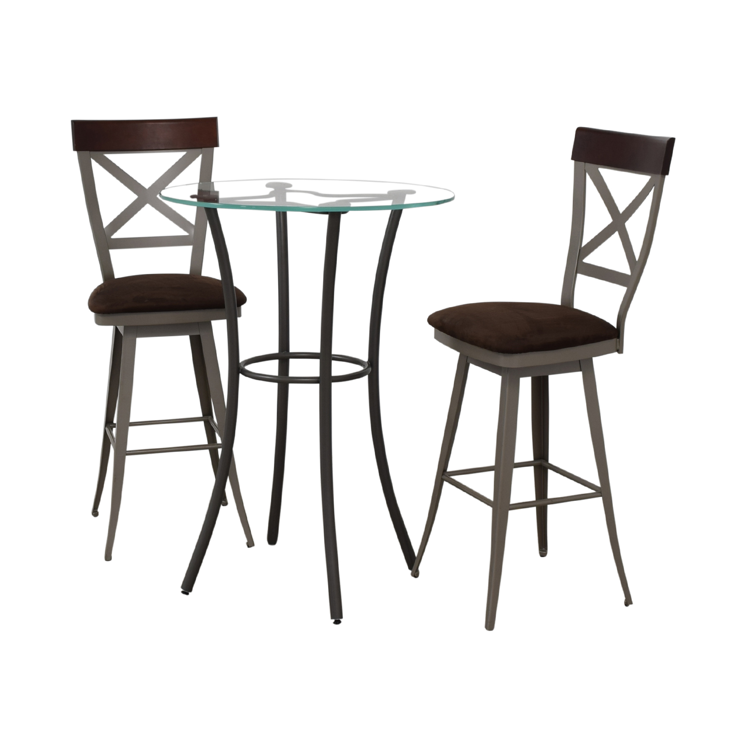 Amisco Amisco Glass Top Pub Table Set discount