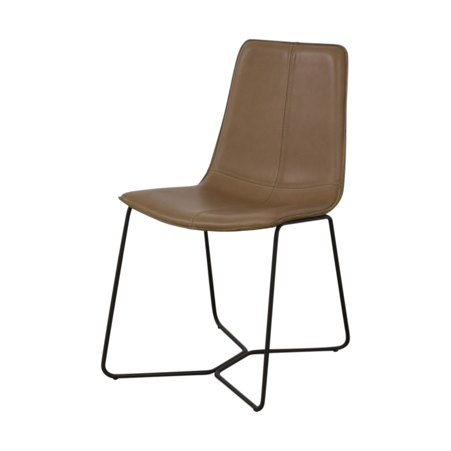 buy West Elm West Elm Leather Slope Dining Chair online