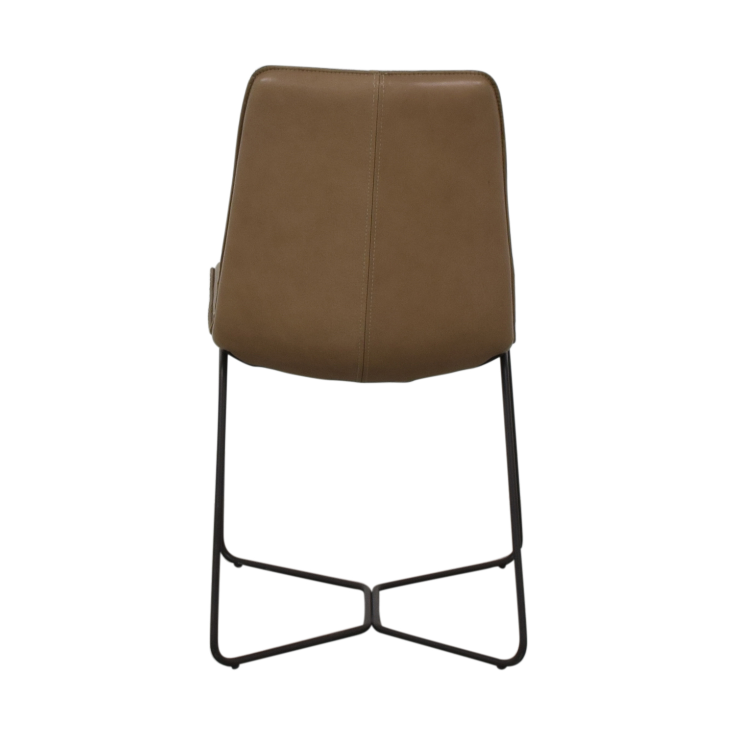 West Elm West Elm Leather Slope Dining Chair nyc