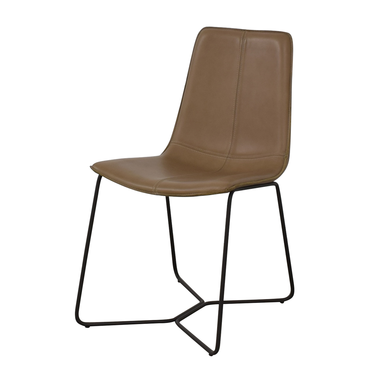 shop West Elm West Elm Leather Slope Dining Chair online