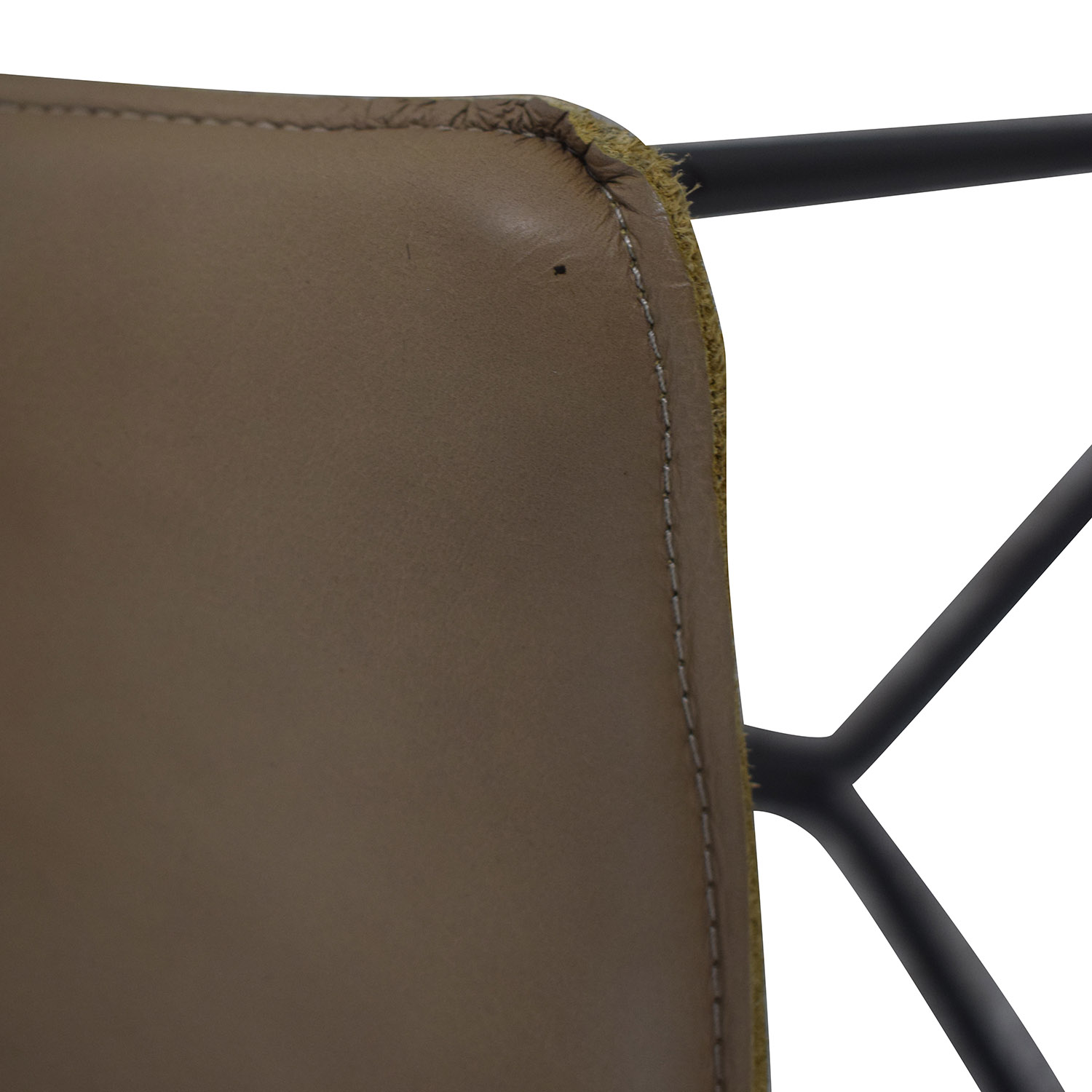 shop West Elm Leather Slope Dining Chair West Elm Chairs