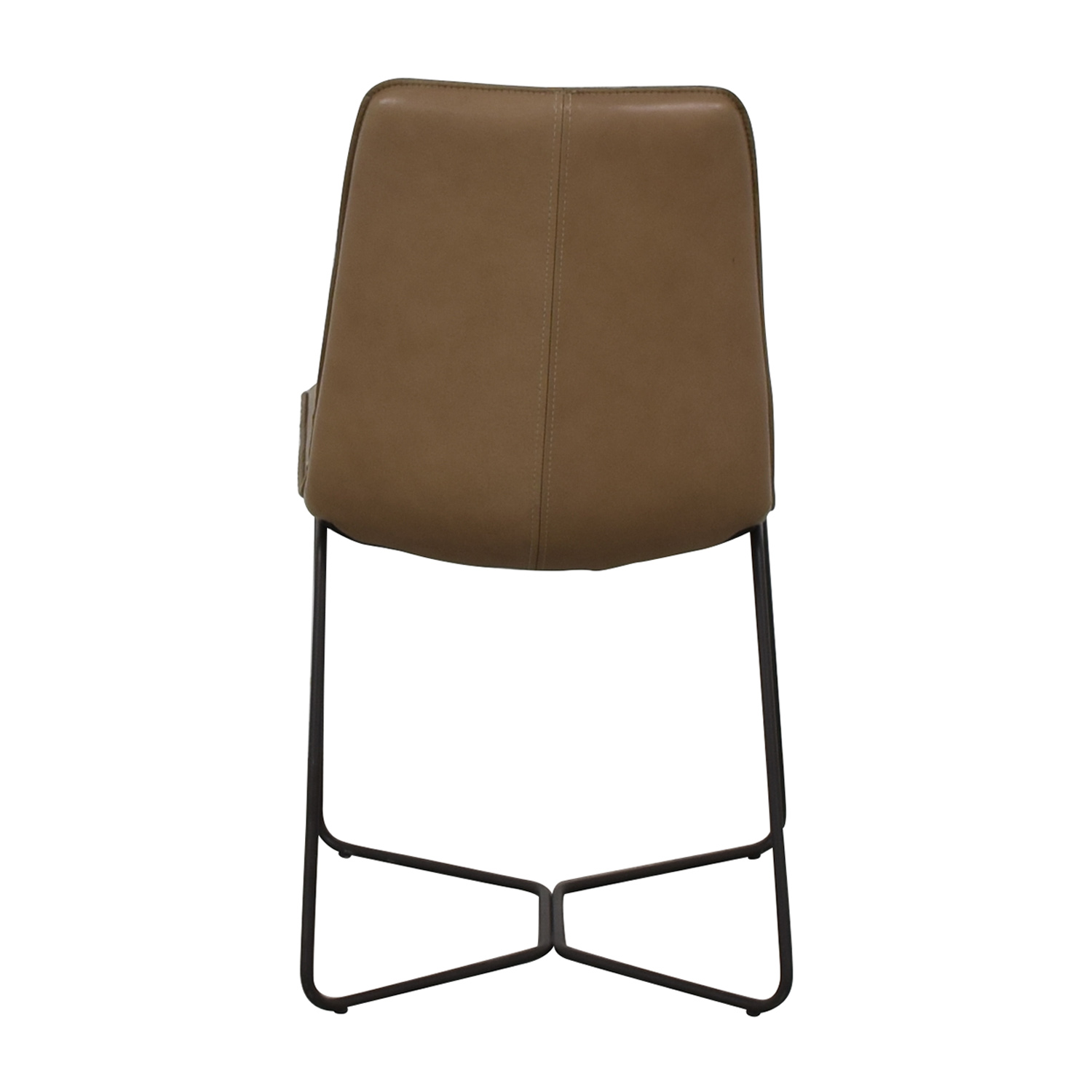 73 Off West Elm West Elm Leather Slope Dining Chair