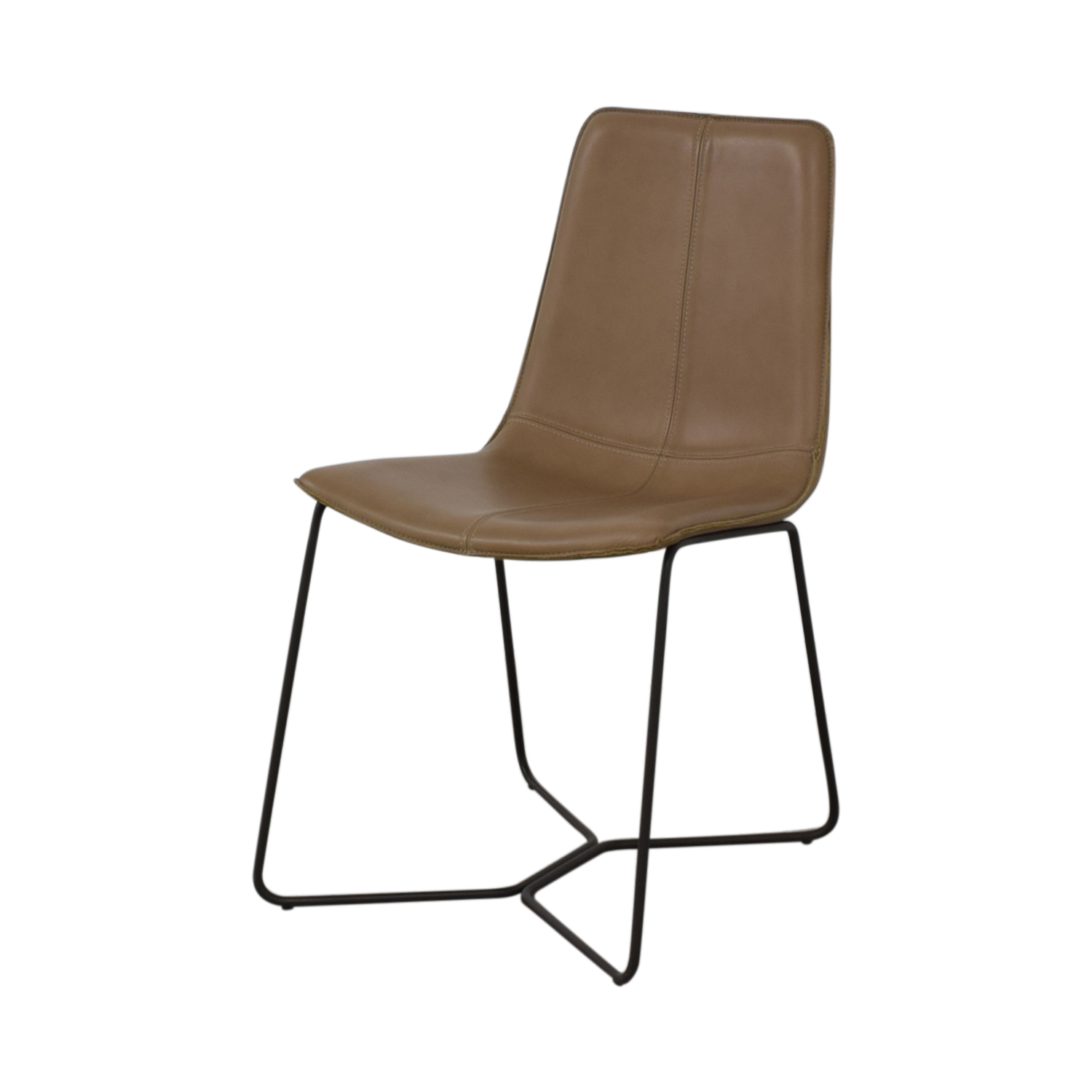 West Elm West Elm Leather Slope Dining Chair Chairs