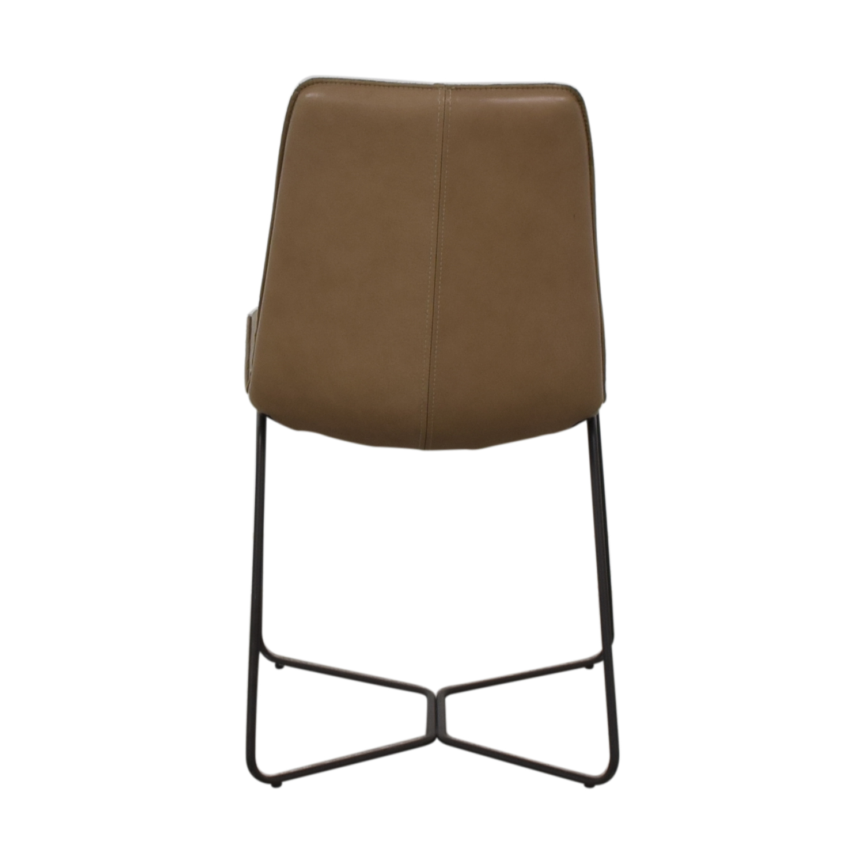 shop West Elm Leather Slope Dining Chair West Elm