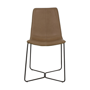 West Elm Leather Slope Dining Chair West Elm