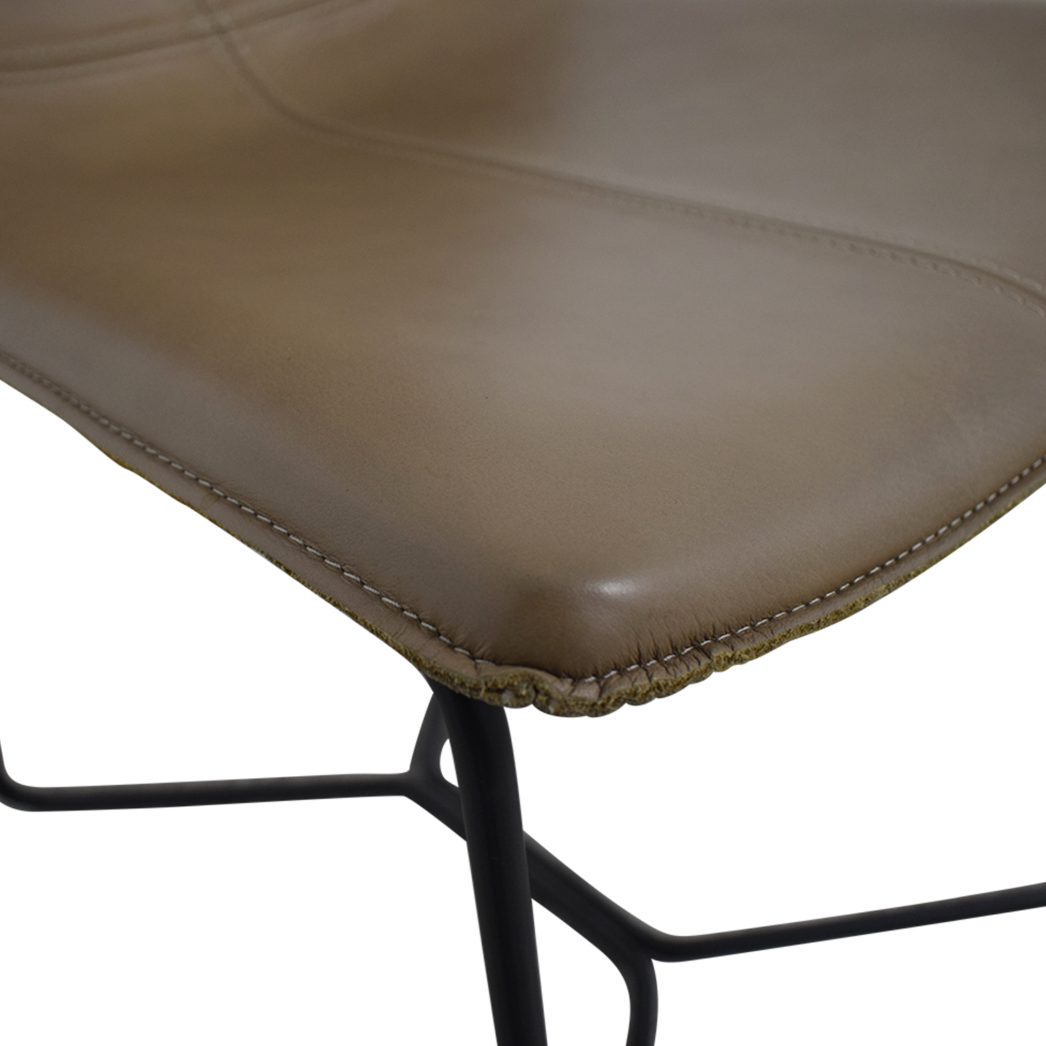 buy West Elm Leather Slope Dining Chair West Elm