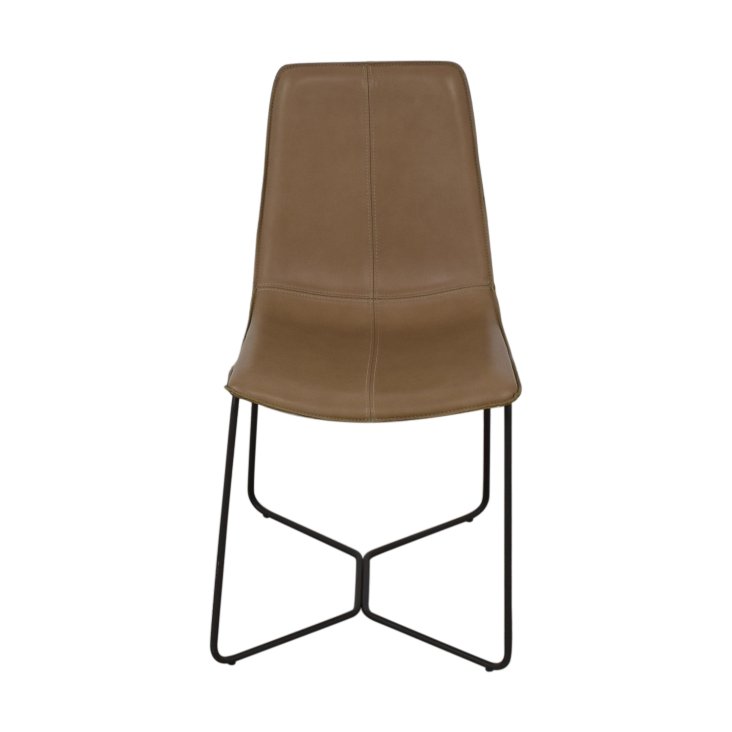 West Elm West Elm Leather Slope Dining Chair nj