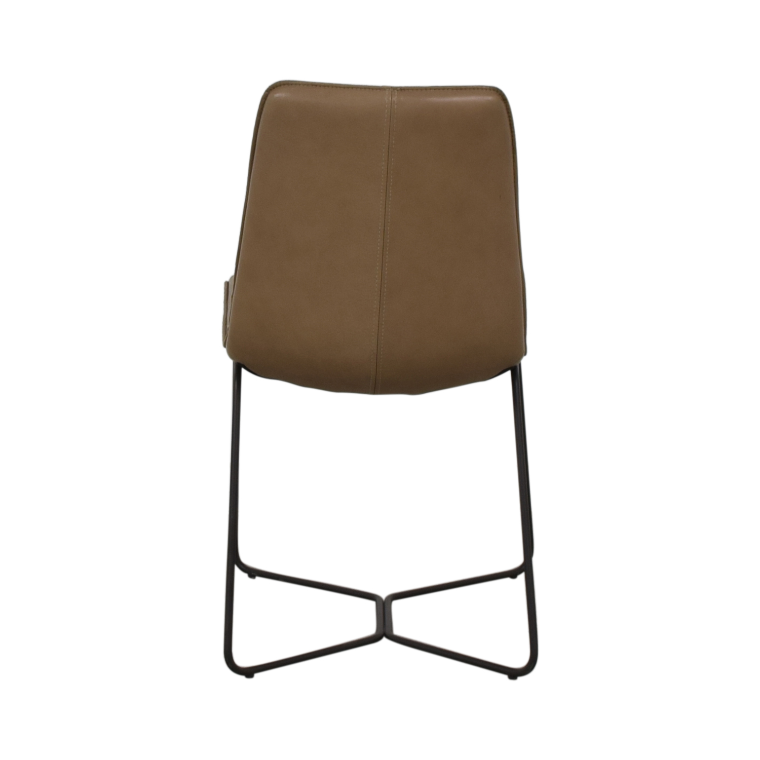 shop West Elm West Elm Leather Slope Dining Chair online