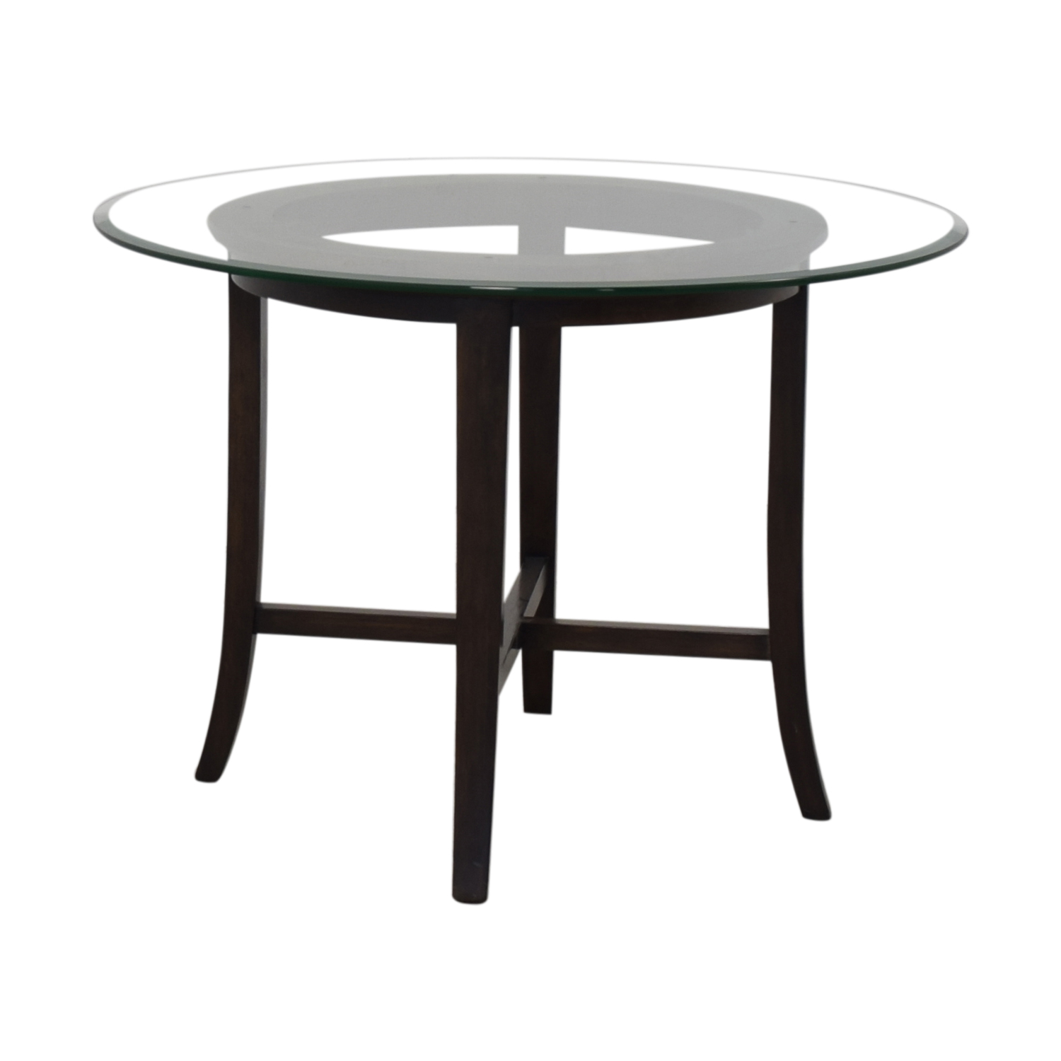 Crate & Barrel Crate & Barrel Halo Glass and Wood Dining Table Tables