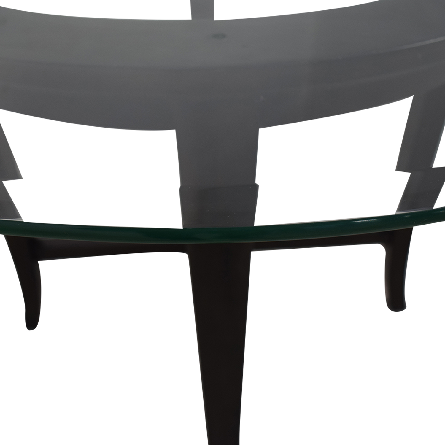 Crate & Barrel Crate & Barrel Halo Glass and Wood Dining Table discount