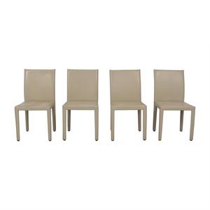 Maria Yee Maria Yee Beige Mondo Chairs