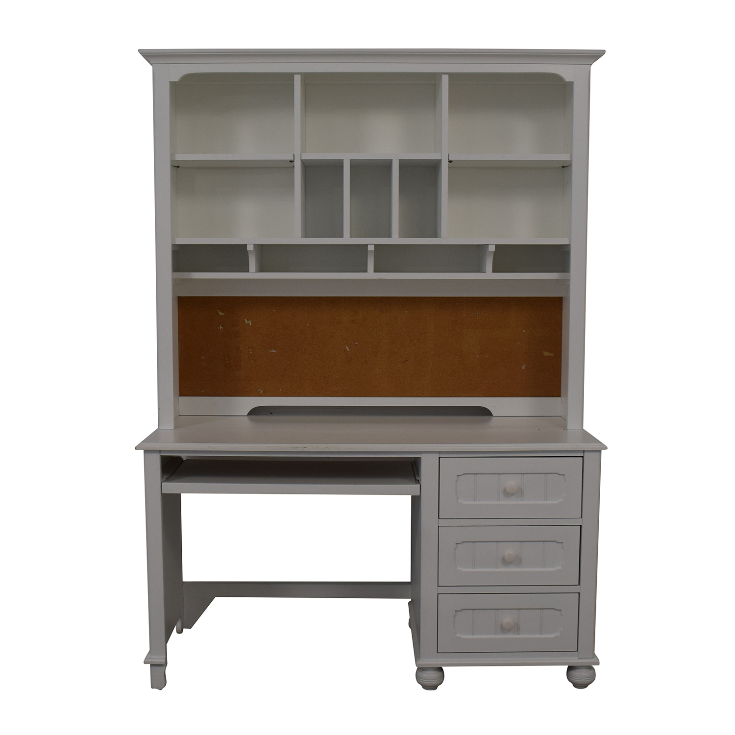 Lea Furniture Lea Furniture Modern Computer Desk and Hutch White