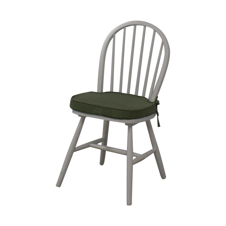 White Farmhouse Style Accent Chair Chairs