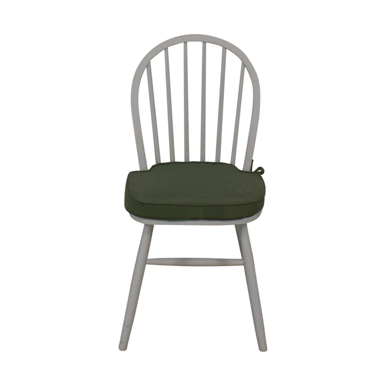 White Farmhouse Style Accent Chair