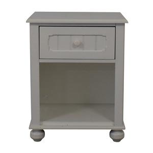 Lea Furniture Lea Furniture White Single Drawer Nightstand nyc