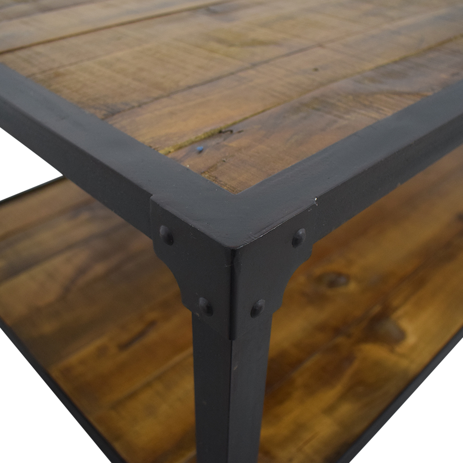 Rustic Wood Coffee Table brown