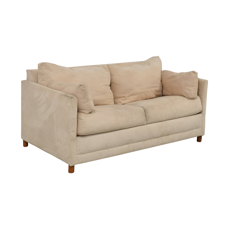 CB2 CB2 Beige Two-Cushion Convertible Sleeper Sofa price