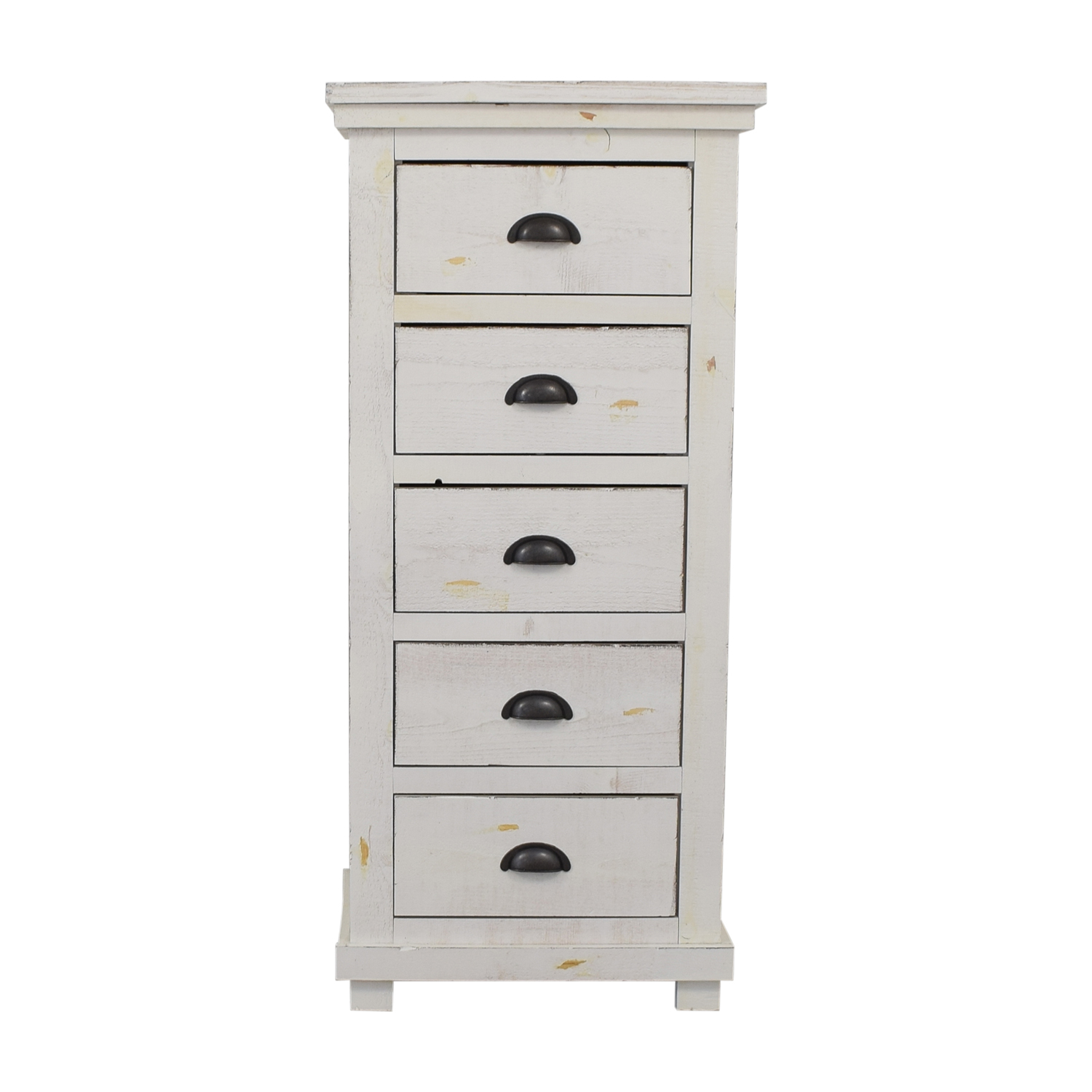 Wayfair Wayfair Distressed White Five-Drawer Lingerie Chest for sale