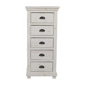 Wayfair Wayfair Distressed White Five-Drawer Lingerie Chest nj