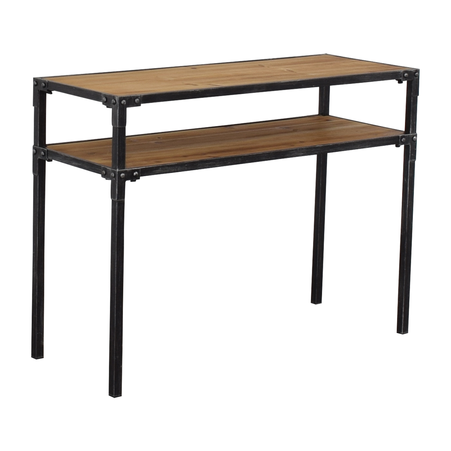 buy Hayneedle Two Tier Console Table Hayneedle Tables