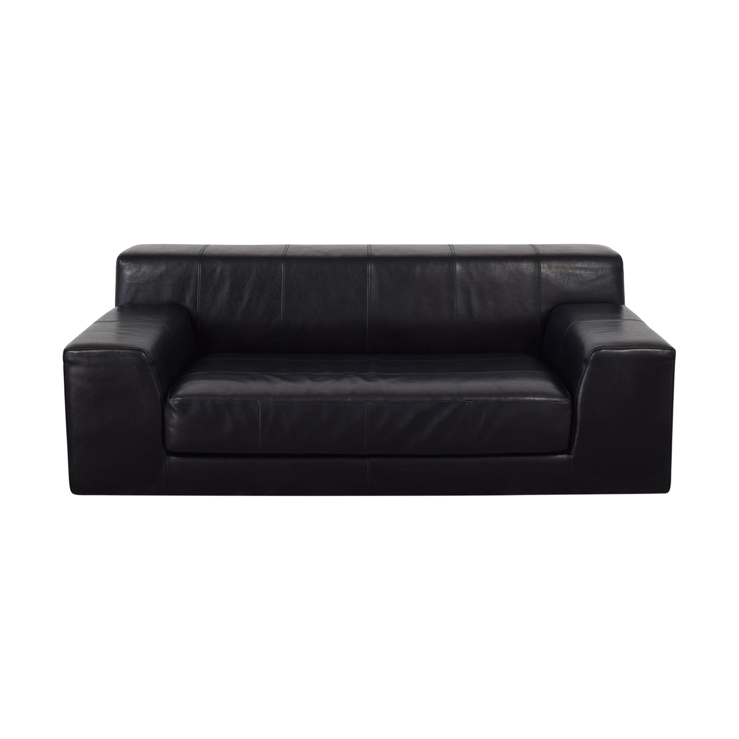 shop IKEA Black Single Cushion Sofa IKEA Classic Sofas