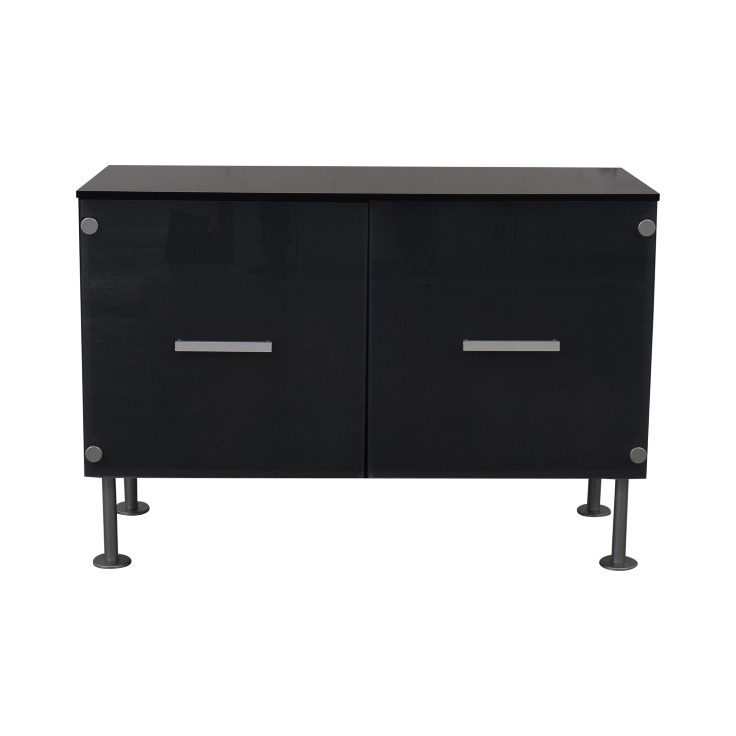 BoConcept BoConcept Media Console with Frost Doors discount