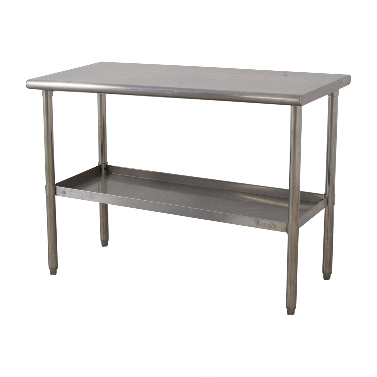 NSF Stainless Preparation Two-Tier Table used