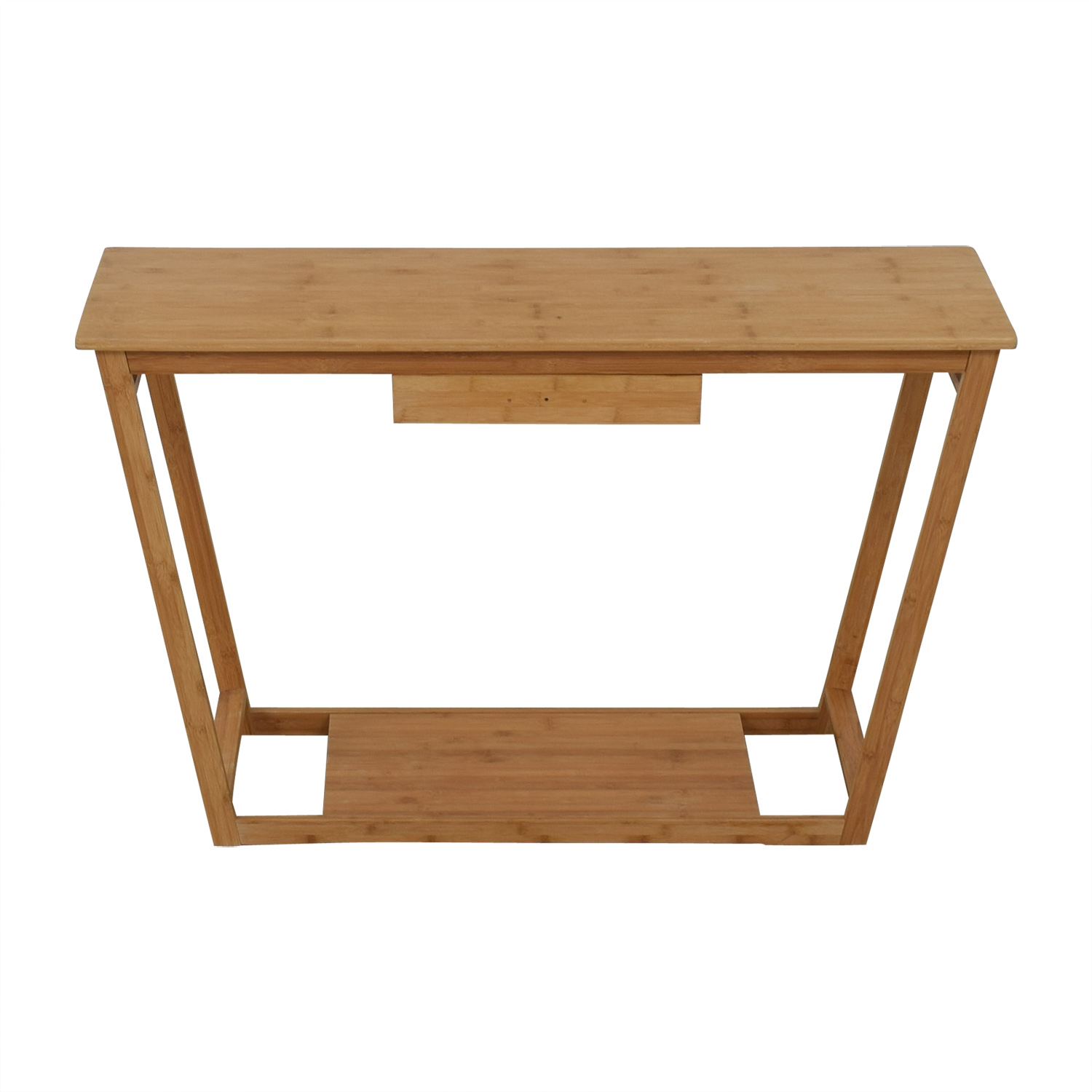 Bamboo Wood Single Drawer Desk or Table Accent Tables