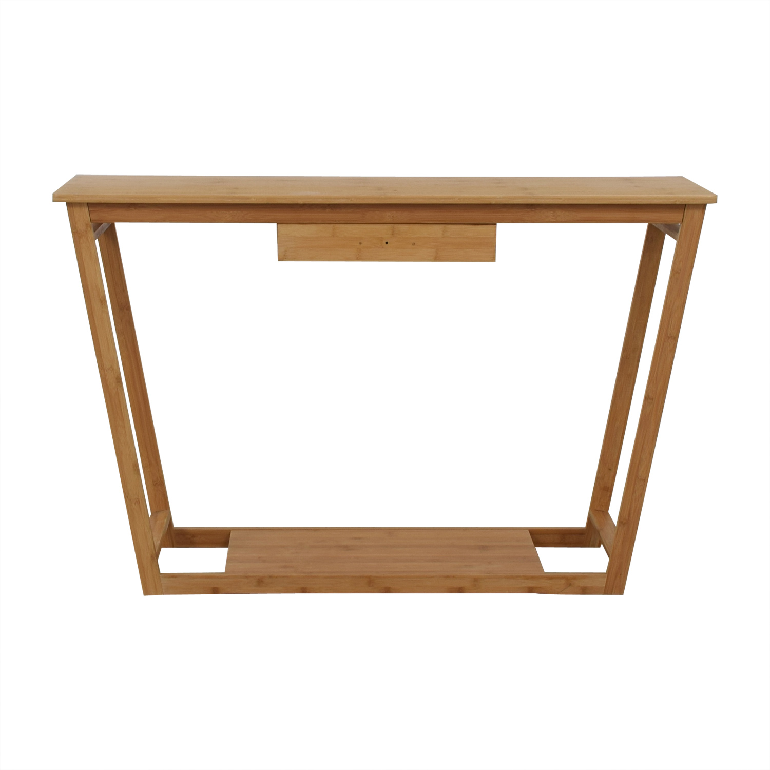 Bamboo Wood Single Drawer Desk or Table for sale