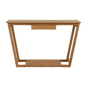 Bamboo Wood Single Drawer Desk or Table second hand